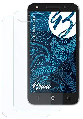 Bruni Schutzfolie kompatibel mit Alcatel A5 LED Folie, glasklare Bildschirmschutzfolie (2X)