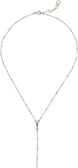 Baguette Y-Necklace 15""