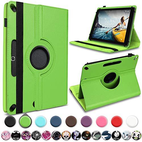 UC-Express Schutzhülle kompatibel für Medion Lifetab P10710 Tablet Hülle Tasche Cover 360° Drehbar, Farbe:Grün