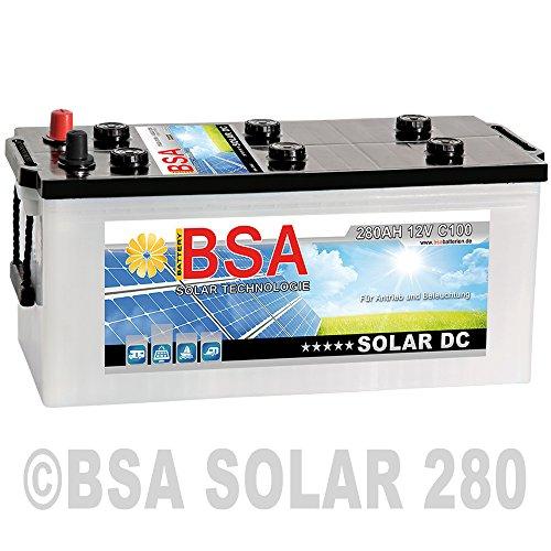 BSA Solar DC 12V 280Ah Batterie Solarbatterie Versorgungsbatterie Boot Wohnmobil - 6 Grössen (280Ah)