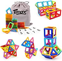 Tomons Magnetic Building Blocks Magnetic Tiles for Kids, Magnetic Blocks Stacking Blocks with Storage Bag - 36 PCS
