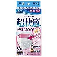 【まとめ買い】(日本製 PM2.5対応)超快適マスク プリ-ツタイプ 小さめ 30枚入(unicharm) ×6個