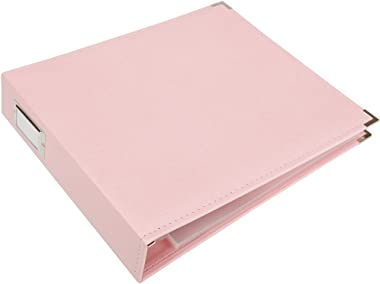 We R Memory Keepers Classic Leather 3-Ring Album, 12 by 12-Inch, Pretty Pink
