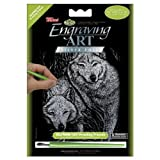 ROYAL BRUSH Mini Silver Foil Engraving Art Kit 5 by 7-Inch, Prowling Friends
