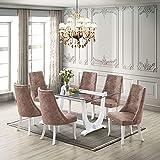 Kings Brand Furniture - Elmer 7 Piece Glass...