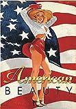 American Beauty Pinup Girl, Vintage, Retro Patriotic, Souvenir Magnet 2 x 3 Photo Fridge Magnet