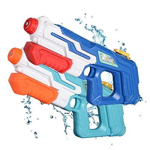 NextX 2 Pistole ad Acqua 1000ML 8 m di Portata Super Potenti e Lunga Gittata Giocattolo Interattivo per Spiaggia, Piscina e Giochi all'Aperto Ottimo Regalo per Bambini e Ragazzi