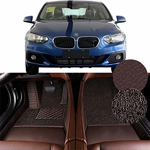 QCYP Alfombrillas para Coches Adecuado para BMW Serie 1 Sedan 118i (Ajuste Manual de Aire Acondicionado/neumático: 205/55 R16) 2017 Alfombrillas de Auto,LHD