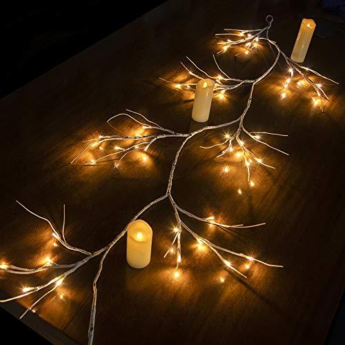 Hypestar Dekorative Lichterkette, LED Licht, 144 LEDs Lichterzweige Stern Wand Dekoration Schlafzimmer Innendekoration Außen Weihnachten (Batteriebetrieben)