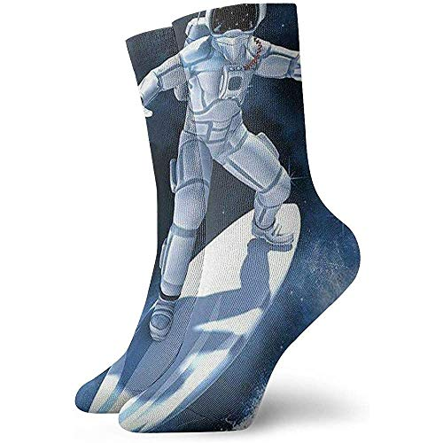 Be-ryl Calcetines Deportivos Cool Astronaut Skating On Galaxy Starry Sky Work Gear...
