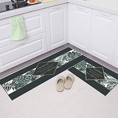 Alfombra de cocina, armario, zapatero, alfombra decorativa, alfombra antideslizante baño, alfombra de entrada lavable NO.22 40X60cm y 40X120cm