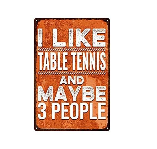 Mulrcks I Live - Placa de metal retro de tenis de mesa...