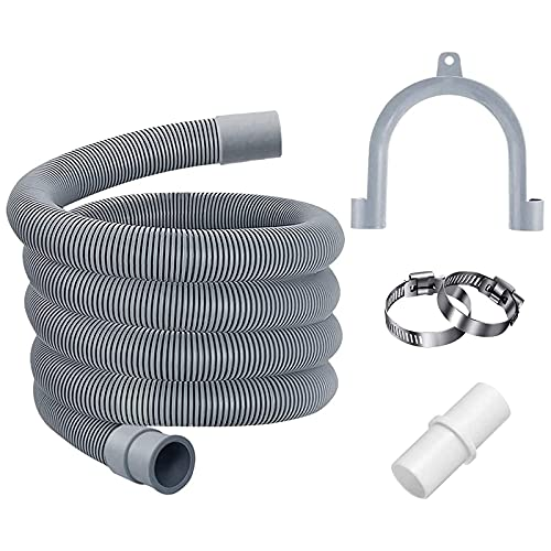 Kit de manguera de drenaje de 2 m para manguera de drenaje de repuesto para lavadora, lavadora, secadora, lavavajillas