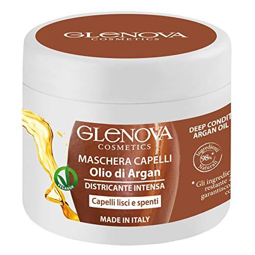 Mascarilla de pelo desenredante intensa para cabello liso y apagado con aceite de argán