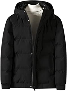 Men Puffer Jacket with Hooded Parkas Thicken Parka Padded Jacket Lightweight Windproof Outdoor for Winter Coat Outerwear