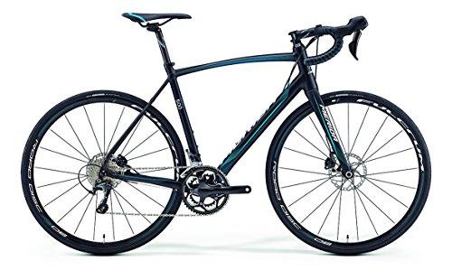 Merida Ride 500 DISC - Bicicletta da corsa 28 pollici, nero/blu (2016) 54 cm, 54 cm