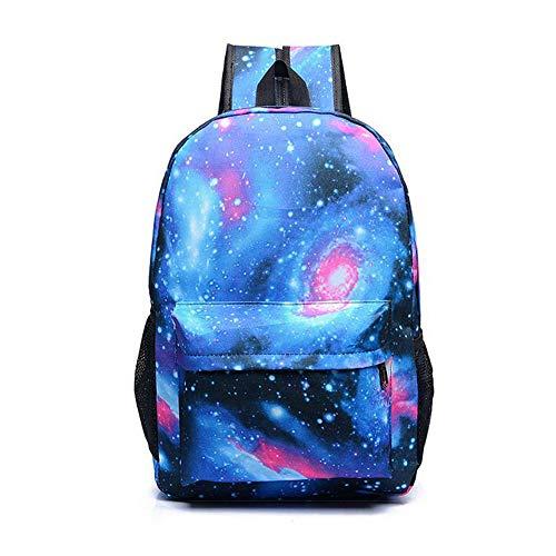 CestnYuun Leuchtend Schule Reise Draussen Rucksack Ideal Vielseitig Schulter Tasche Rucksack zum Männer Frau Viel von Aufbewahrungstasche (Sternenblau ohne Logo)
