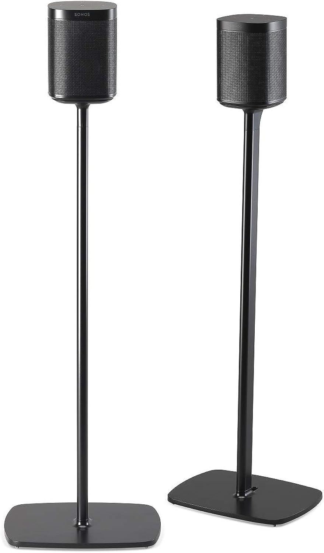 (Pair, Black) - Flexson Pair Floor Stand for Sonos One - Black