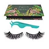 3D Mink Lashes Hand-made Dramatic Thick Crisscross Siberian Mink False Eyelashes for Makeup Deluxe Black Fluffy Long Soft Reusable + Useful Lashes Clip
