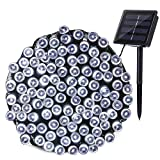 Joomer Solar String Lights 72ft 200 LED 8 Modes Outdoor String Lights Waterproof Solar Fairy Lights for Garden, Patio, Fence, Balcony, Outdoors (White)