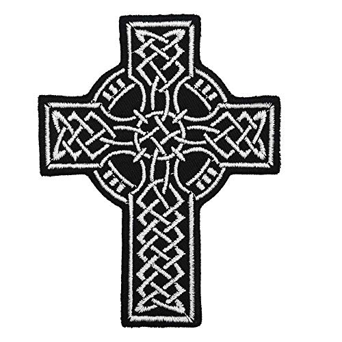 Patches Celtic Design Cross Patch Embroidered Applique Sewing Label Punk Biker Patches Clothes Stickers Apparel Accessories Badge