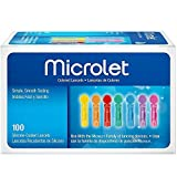 Microlet Colored Lancets 100 Each ( 2 pack)