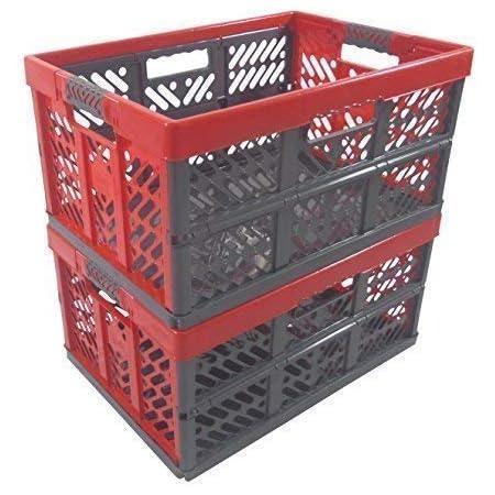 Okt Germany Gmbh 2 X Professionnel - Klappbox Tüv Rhénanie Certificat 45 L à 50 kg Anthracite/Rouge Pliante Plastique Boîte