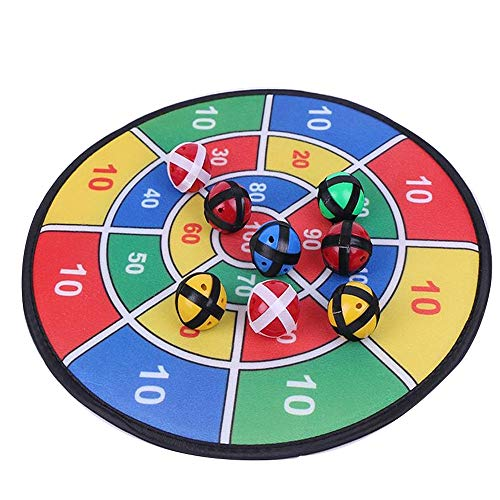 Veiligheidsdartbordset Bordspel Met 8 Ballen Met behulp van Hook-and-Loop Fasteners grote kluis Indoor Outdoor Game voor kinderen (Color : As picture, Size : One size)