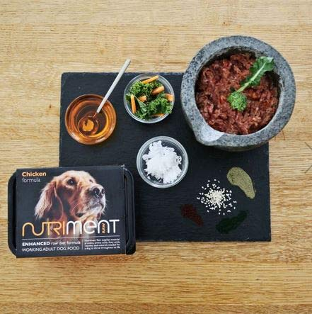 NUTRIMENT ENHANCED ADULT WORKING DOGS Raw Food (10 Tray pack) Frozen,...