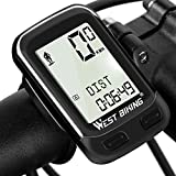 Bike Computer Wireless Waterproof Bicycle Odometer Speedometer Automatic Wake-up 22 Function Cycling Computer...