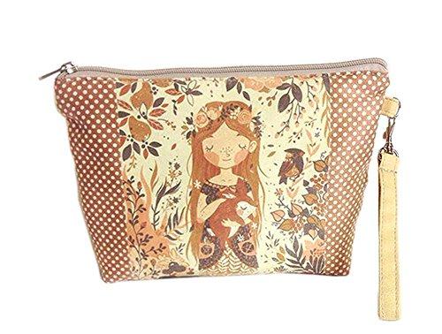 fille créative et jolie toile sacs cosmétique/bourse