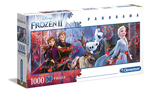 Clementoni - 39544 - Disney Panorama Collection - Disney Frozen 2 - 1000 Pezzi - Made In Italy - Puzzle Adulto