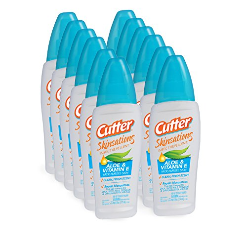 Cutter Skinsations Insect Repellent Pump Spray, 6-Ounce, 12-Pack