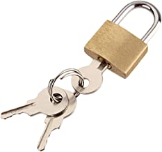 Deurslot Hangslot, koper hangslot voor kluisjes met 3 sleutels reizen hangsloten voor bagage gym locker box case kleine ko...
