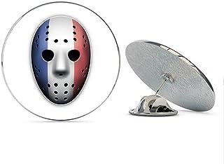 France Flag Ice Hockey Goalie Mask Round Metal 0.75