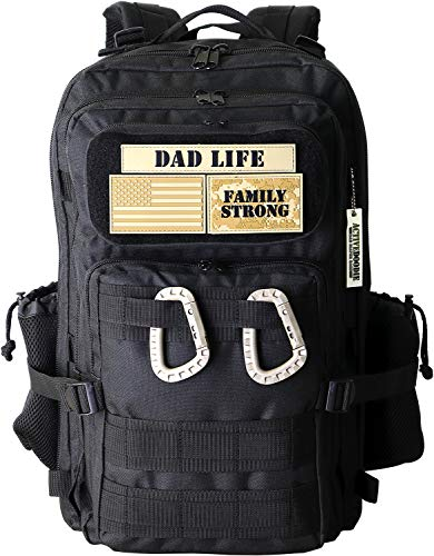 ActiveDoodie Diaper Bag for Dad, Tactical Advantage Bag for Dads, Changing Pad, Stroller Straps, Insulated Bottle Pouch, Dad Diaper Bag with Dad Life Patches, Mens Diaper Bag