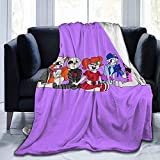 Titafel Super-Soft FNAF Sister Location Chibi Group Throw Blanket Suitable for Sofa Micro Flannel Fleece Blankets for Adults and Children Bed Blankets 50' x40