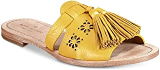 Kate Spade New York Womens Claire Fabric Open Toe Walking, Yellow, Size 8.0