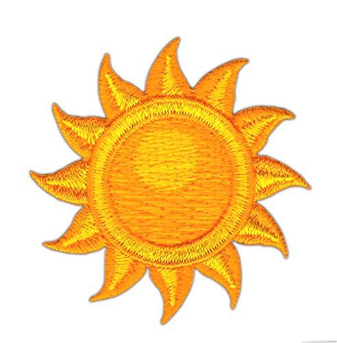 Patch Sonne Sun Aufnäher Bügelbild Größe 5,4 x 5,4 cm