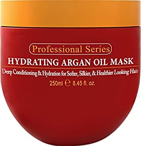 Hydrating Argan Oil Hair Mask and Deep Conditioner By Arvazallia for Dry or Damaged Hair - 8.45 Oz from Arvazallia