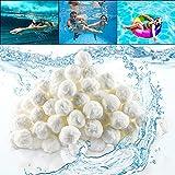 EKKONG Filtro Balls, Palline Filtranti per Piscina di Alta qualità, Sfere per Filtrazione a Sabbia per Piscine, Pool Filtraggio Sand Filter, Sfere Filtranti per Piscine, Pompe Filtro e Acquari (700g)