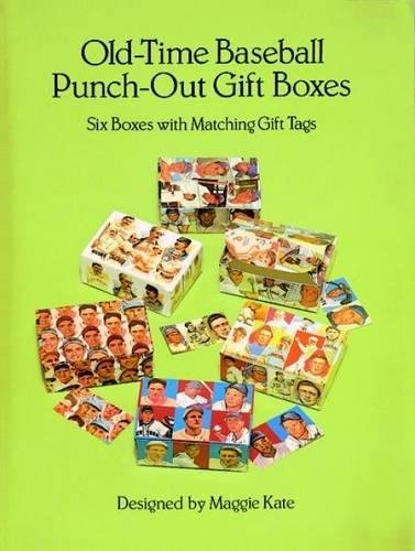 Old-Time Baseball Punch-Out Gift Boxes: Six Boxes with Matching Gift Tags