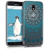 kwmobile Hülle kompatibel mit Samsung Galaxy J5 (2017) DUOS - Hülle Silikon transparent Arktische Schneeflocke Blau Hellblau Transparent