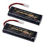 MELASTA 2pièces 7.2V 4000mAh RC NiMH Batterie de Course pour Voitures de Course RC Compatible avec Le connecteur Tamiya, durée de Vie prolongée avec Faible Auto-décharge