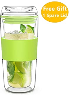 Best insulated glass drinking glasses Reviews
