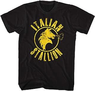 Rocky T-Shirt Distressed Yellow Italian Stallion Black Tee
