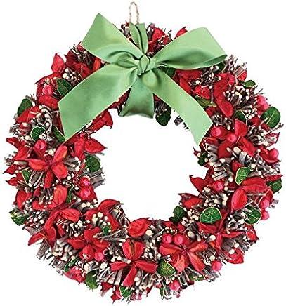 彩か SAIKA リース M 赤 レッド インテリア用 玄関飾り ポップ CXO-201Mr Ribbon Wreath-Twig & Cotton shell M Red