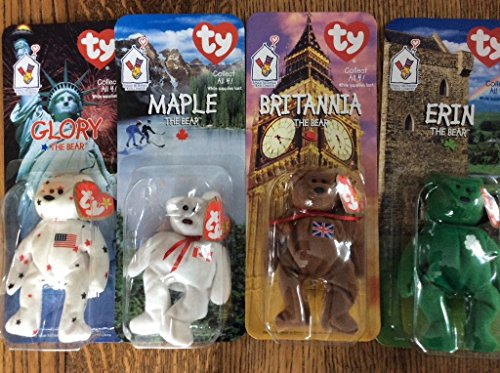 Rare McDonald's Ty Beanie Babies Collectors Set Of 4 Special Bears .HN#GG_634T6344 G134548TY67427