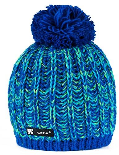 Unisex Beanie Chapeau hat Bonnet d'hiver chaud Nordic Fashion SKI SNOWBOARD Sport doublure polaire 100% Laine (Niunio 87)