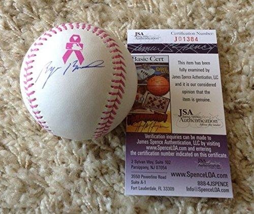 Byron Buxton Minnesota Twins Signed Breast Cancer MLB Baseball JSA J 01384